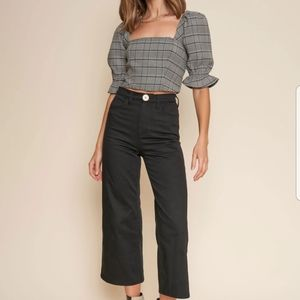 Whimsy + Row Flora Pant in Black